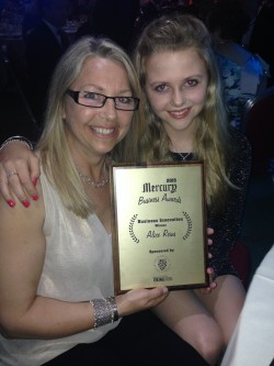 Alice Reins at the Mercury Business Awards